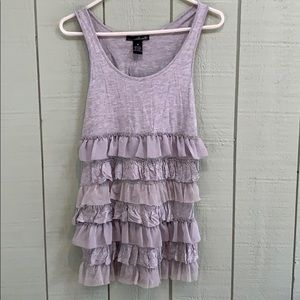 Ruffled tank top